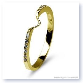 Mark Silverstein Imagines Polished 18K Yellow Gold Notched Half-Eternity Wedding Band