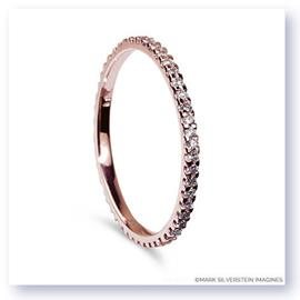 Mark Silverstein Imagines Thin 18K Rose Gold and Pink Diamond Eternity Band
