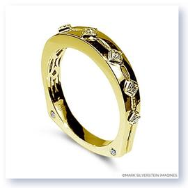 Mark Silverstein Imagines Polished 18K Yellow Gold Euro Style Yellow Diamond Wedding Band