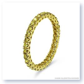 Mark Silverstein Imagines Stackable Polished 18K Yellow Gold Diamond Eternity Ring