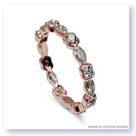 Mark Silverstein Imagines Round and Marquise Diamond 18K Rose Gold Stackable Fashion Ring