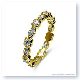 Mark Silverstein Imagines Round and Marquise Diamond 18K Yellow Gold Stackable Fashion Ring