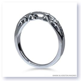 Mark Silverstein Imagines Polished 18K White Gold Sculpted Hearts Design Wedding Band