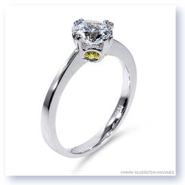 Mark Silverstein Imagines 18K White Gold Modern White and Yellow Diamond Engagement Ring