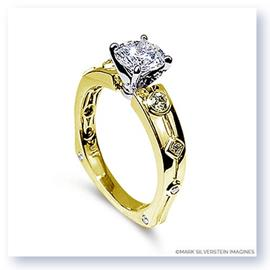 Mark Silverstein Imagines 18K Yellow Gold Euro Style Yellow Diamond Engagement Ring