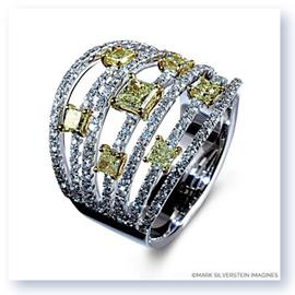 Mark Silverstein Imagines 18K White and Yellow Gold Seven Row Yellow and White Diamond Fashion Band