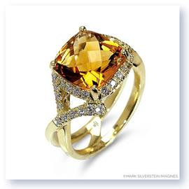 Mark Silverstein Imagines 18K Yellow Gold Citrine Crossover Diamond Fashion Ring