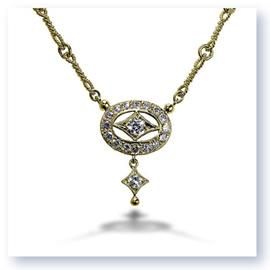 Mark Silverstein Imagines 18K Yellow Gold Drop Diamond Necklace