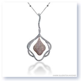 Mark Silverstein Imagines 18K White and Rose Gold Curves and Layered Diamond Pendant