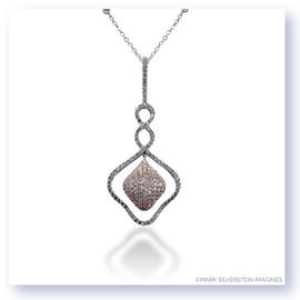 Mark Silverstein Imagines 18K White and Rose Gold Intertwined Lines Diamond Pendant