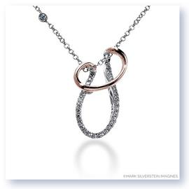 Mark Silverstein Imagines 18K White and Rose Gold Layered Curve Diamond Pendant