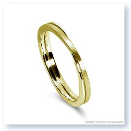 Mark Silverstein Imagines 18K Yellow Gold Polished and Brushed Four Loop Men's Wedding Band