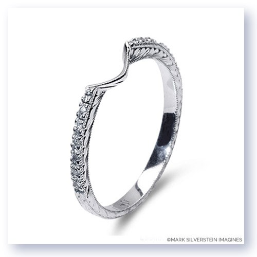 Notched Half Eternity Wedding Band Larger Photo Email A Friend
