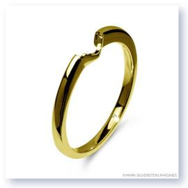 Mark Silverstein Imagines Polished 18K Yellow Gold Notched Wedding Band