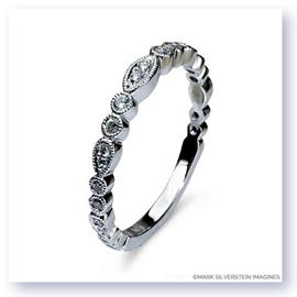 Mark Silverstein Imagines 18K White Gold and White Diamond Half Eternity Band