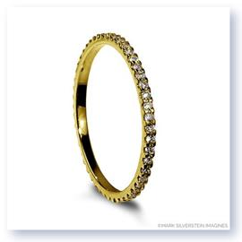 Mark Silverstein Imagines Thin 18K Yellow Gold Diamond Eternity Band