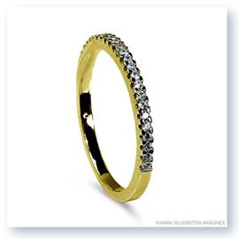 Mark Silverstein Imagines Thin 18K Yellow Gold Half Diamond Eternity Band