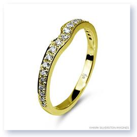 Mark Silverstein Imagines Notched 18K Yellow Gold Wedding Band