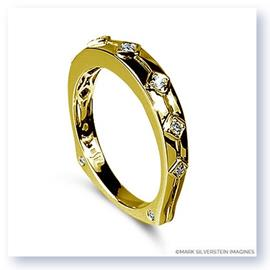 Mark Silverstein Imagines Polished 18K Yellow Gold Euro Style Diamond Wedding Band