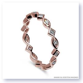 Mark Silverstein Imagines Marquise and Diamond Shaped Stackable Diamond Fashion Ring in 18K Rose Gold