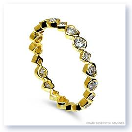 Mark Silverstein Imagines Marquise, Heart and Diamond Shaped Stackable Diamond Fashion Ring in 18K Yellow Gold