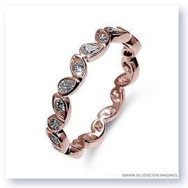 Mark Silverstein Imagines Round and Pear Shaped End on End Stackable 18K Rose Gold Diamond Fashion Ring