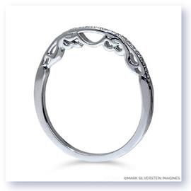 Mark Silverstein Imagines Polished 18K White Gold Filigree and Diamond Wedding Band