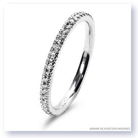 Mark Silverstein Imagines 18K White Gold Micro Pavé Set Diamond Eternity Band
