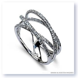 Mark Silverstein Imagines 18K White Gold Diamond Strand Crossover Band