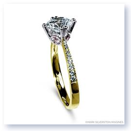 Mark Silverstein Imagines 18K Yellow and Rose Gold Pink Diamond Accent Engagement Ring