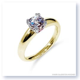 Mark Silverstein Imagines 18K Yellow and Rose Gold Pink Diamond Accent Tapered Engagement Ring