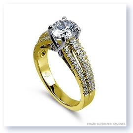 Mark Silverstein Imagines 18K Yellow Gold Multi-Level Diamond Engagement Ring