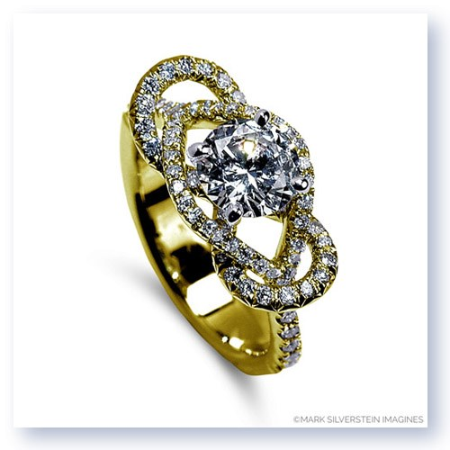 Mark Silverstein Imagines 18K Yellow Gold Infinity Loop Diamond Engagement Ring