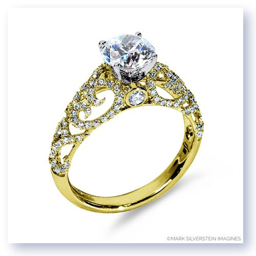 Mark Silverstein Imagines 18K Yellow Gold Airy Diamond Engagement Ring