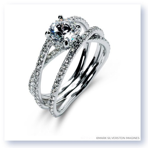 Superior ... Double Band Crossover Diamond Engagement Ring · Larger Photo Email A  Friend