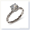 Mark Silverstein Imagines 18K White Gold Geometric Shape Diamond Engagement Ring