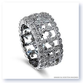 Mark Silverstein Imagines 18K White Gold Fleur-De-Lis Wide Fashion Ring