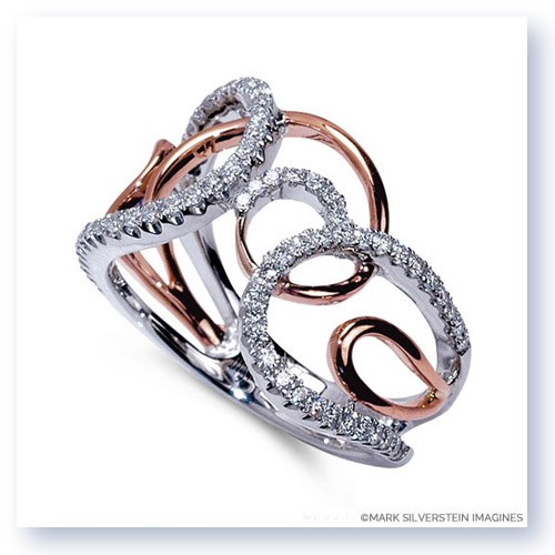 Mark Silverstein Imagines 18K White and Rose Gold Multi-Loop Diamond Fashion Ring