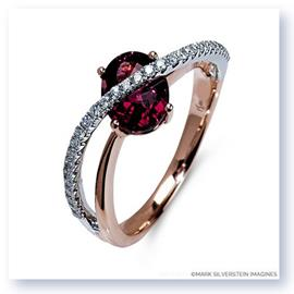 Mark Silverstein Imagines 18k White and Rose Gold Pink Tourmaline and Diamond Right-Hand Ring