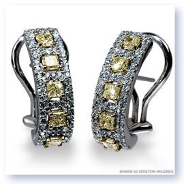 Mark Silverstein Imagines 18K White and Yellow Gold Yellow Diamond Huggie Earrings