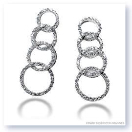 Mark Silverstein Imagines 18K White Gold Journey Inspired Open Circle Earrings