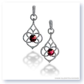 Mark Silverstein Imagines 18K White Gold Diamond and Ruby Dangle Earrings