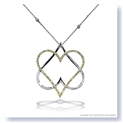 "Mark Silverstein Imagines 18K White and Yellow Gold ""Hearts of David"" Diamond Pendant"