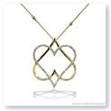 "Mark Silverstein Imagines 18K Yellow Gold ""Hearts of David"" Diamond Pendant"