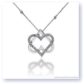 Mark Silverstein Imagines 18K White Gold Double Heart Diamond Pendant