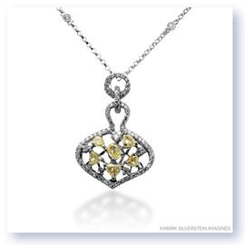 Mark Silverstein Imagines 18K White and Yellow Gold White and Yellow Diamond Net Pendant