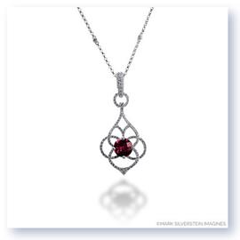Mark Silverstein Imagines 18K White Gold Diamond and Ruby Pendant