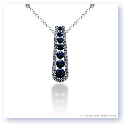 Mark silverstein imagines 18k white gold journey inspired sapphire journey inspired sapphire and diamond pendant larger photo email a friend aloadofball Image collections