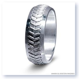 Mark Silverstein Imagines Sterling Silver Baseball Themed Men's Wedding Band