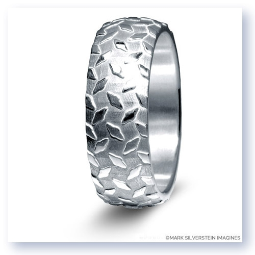 Mark Silverstein Imagines Sterling Silver Diamond Plate Design Mens